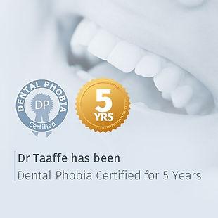 Dr Taaffe Dental Phobia Certificate
