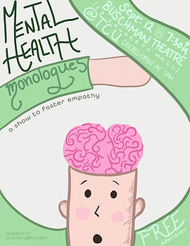 Mental Health Monologues Poster