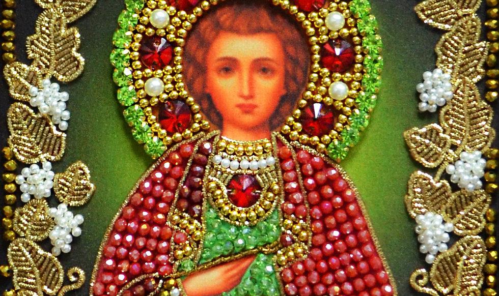 """Набор для вышивания хрустальными камнями Образ Святого Целителя """"Пантелеймона"""""""