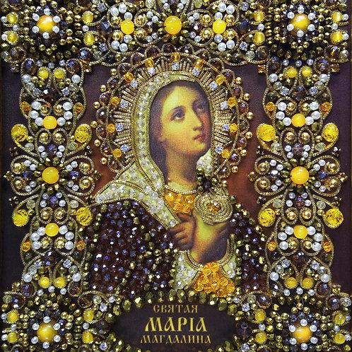Ткань с нанесенной авторской схемой Святая Мария Магдалина