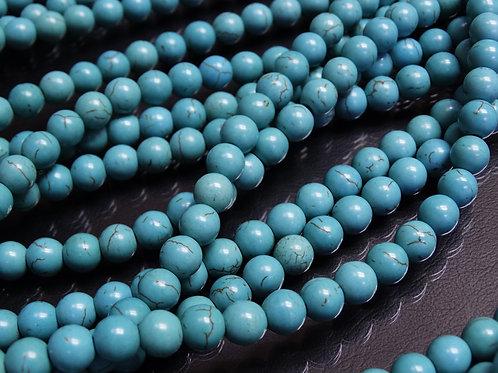 ПК001НН8 Бусины из природного камня бирюза, размер: 8 мм, количество 1 шт.