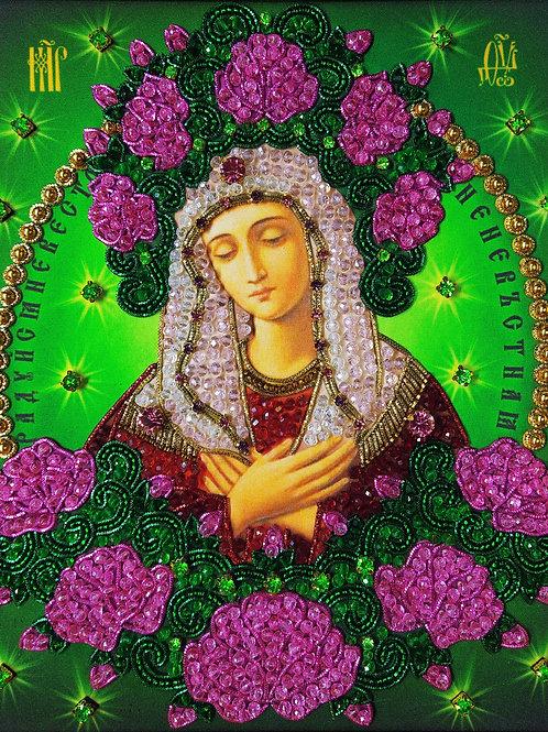 """Набор для вышивания хрустальными камнями Образ Божьей Матери """"Умиление"""""""