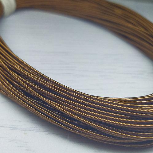 КЖ004НН12 Канитель жесткая, цвет: бронза, размер: 1,2 мм, 5 грамм