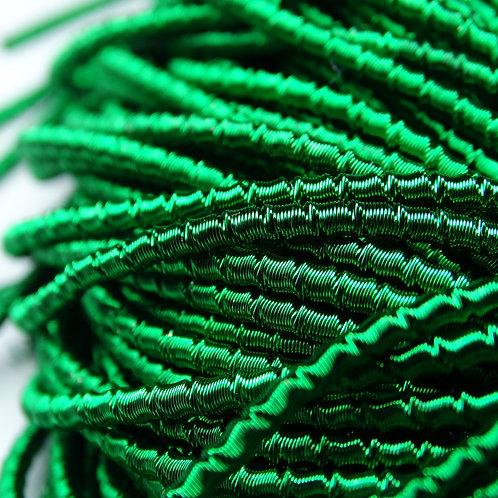 "ТБ011НН2 Трунцал фигурный ""бамбук"", цвет: темно-зеленый, размер: 2 мм, 5 гр."