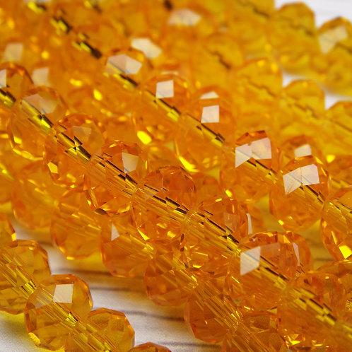 БП007НН68 Хрустальные бусины, цвет: оранжевый (без покрытия), размер: 6х8 мм.