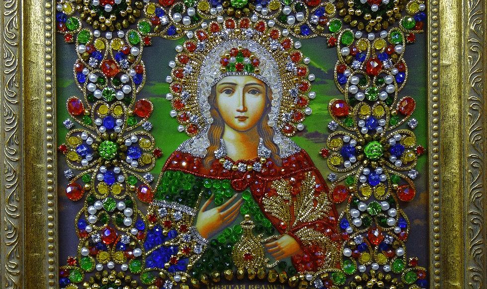 Набор для вышивания хрустальными камнями Святая Великомученица Фотиния(Светлана)