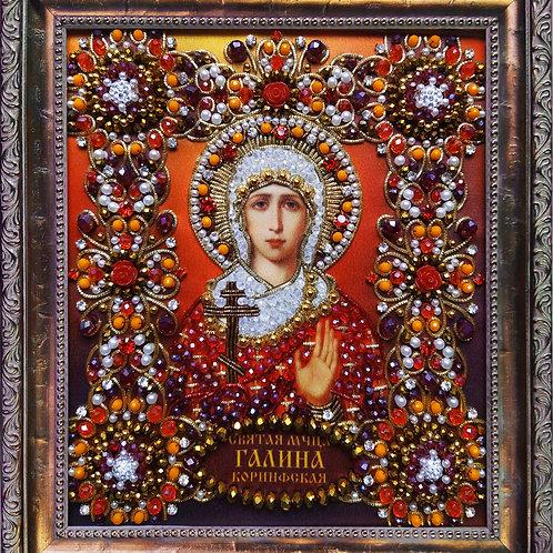 Набор для вышивания хрустальными камнями Святая Галина Коринфская