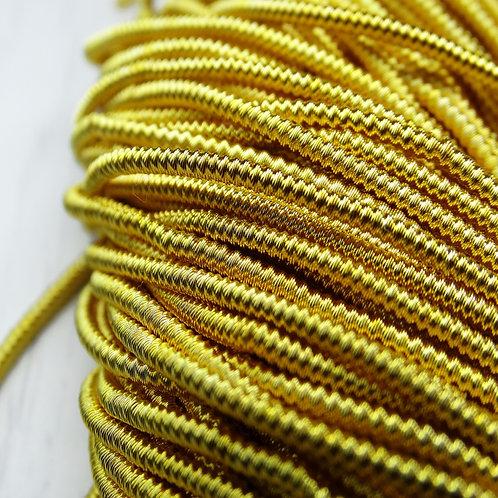"""ТЗ006НН1 Трунцал фигурный """"зигзаг"""", цвет: золото, размер: 1,5 мм, 5 грамм"""