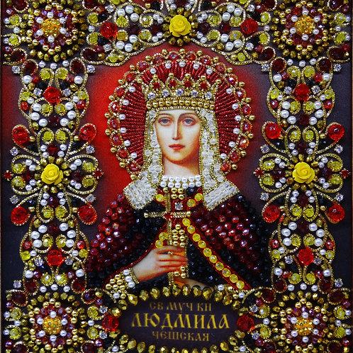 Ткань с нанесенной авторской схемой Святая княгиня Людмила Чешская