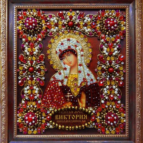 Набор для вышивания хрустальными камнями Святая Виктория Никомидийская