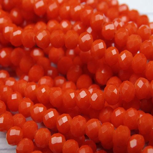 БН004НН34 Хрустальные бусины, цвет: рыжий непрозрачный (без покрытия), 3х4 мм.