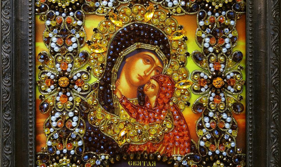Набор для вышивания хрустальными камнями Святая Анна Праведная