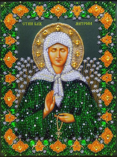 Набор для вышивания хрустальными камнями Святая Матрона Московская