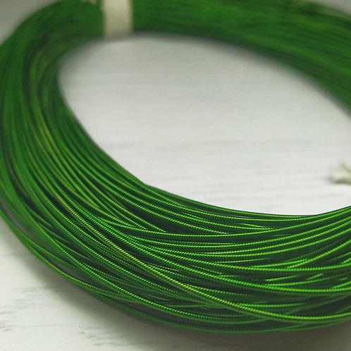 КЖ008НН1 Канитель жесткая, цвет: зеленый, размер: 1 мм, 5 грамм