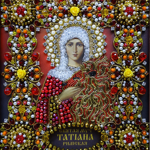 Ткань с нанесенной авторской схемой Святая Мученица Татьяна Римская