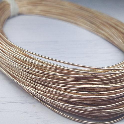 КЖ009НН1 Канитель жесткая, цвет: розовое золото, размер: 1 мм, 5 грамм