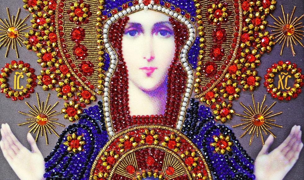 """Набор для вышивания хрустальными камнями Образ Божьей Матери """"Знамение"""""""