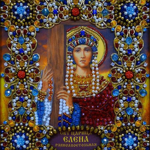 Ткань с нанесенной авторской схемой Святая царица Елена Равноапостольная