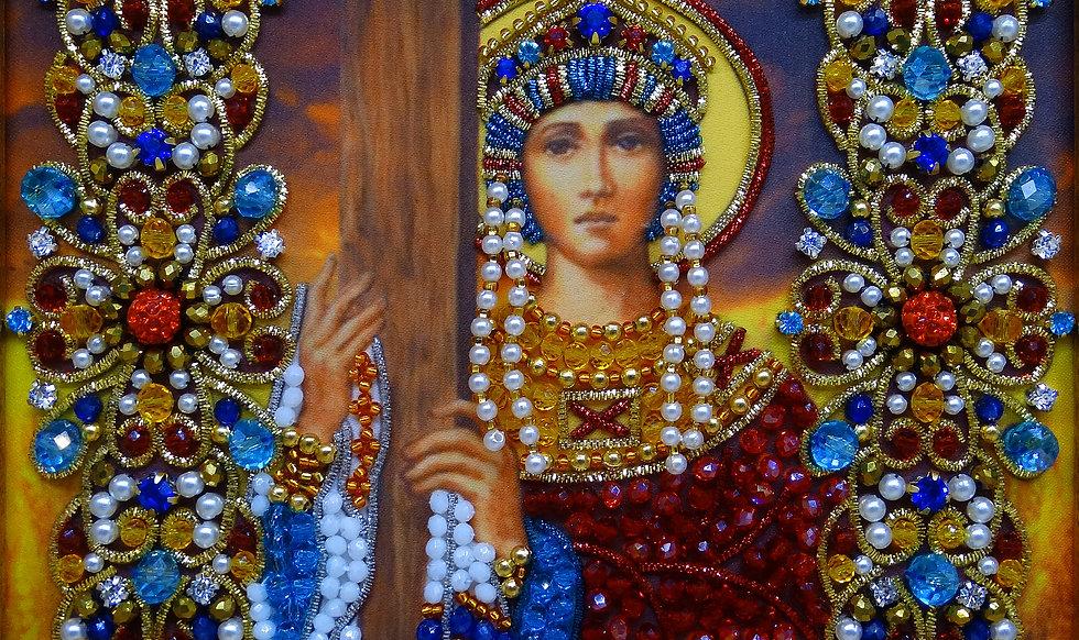 Набор для вышивания хрустальными камнями Святая царица Елена Равноапостольная