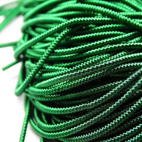 """ТЗ013НН1 Трунцал фигурный """"зигзаг"""", цвет: темно-зеленый, размер: 1,5 мм, 5 гр."""