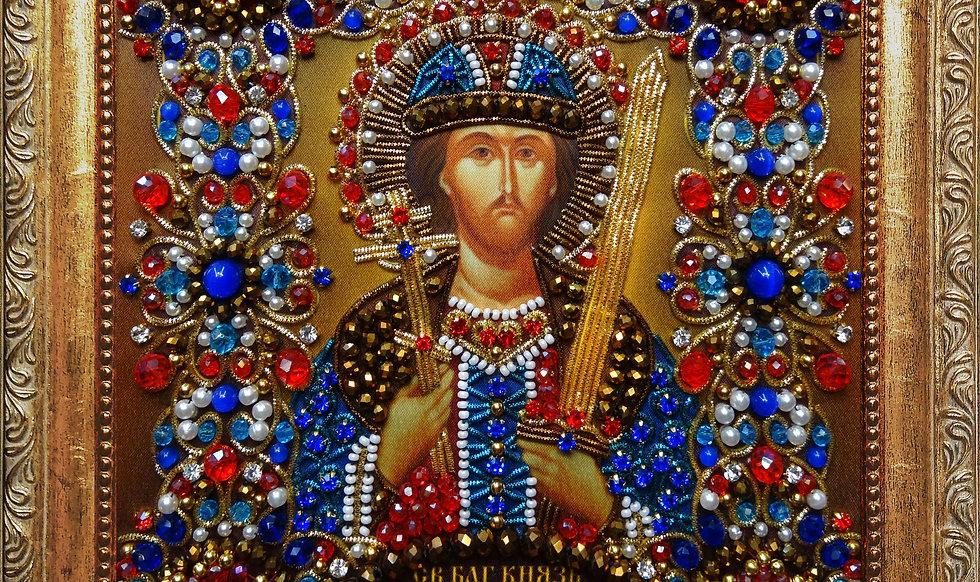 Набор для вышивания хрустальными камнями Святой Игорь Черниговский