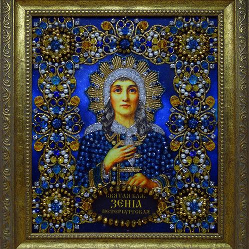 Набор для вышивания хрустальными камнями Святая Ксения Петербургская