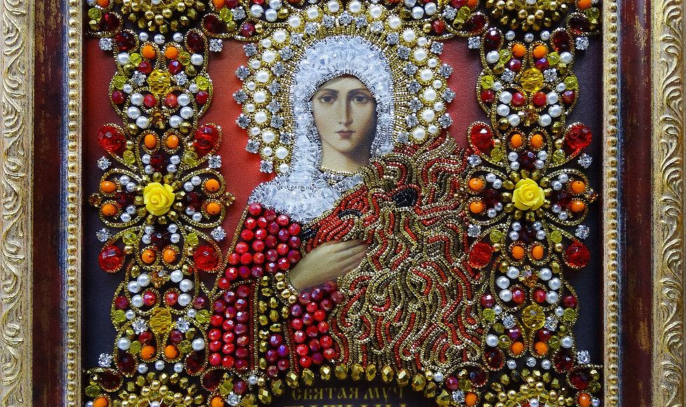 Набор для вышивания хрустальными камнями Святая Мученица Татьяна Римская