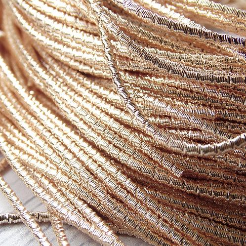 "ТБ004НН2 Трунцал фигурный ""бамбук"", цвет: розовое золото, размер: 2 мм, 5 гр."