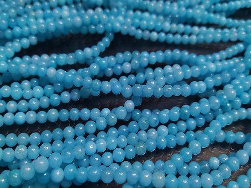 ПК005НН4 Бусины из природного камня амазонит, размер: 4 мм, количество: 1 шт.