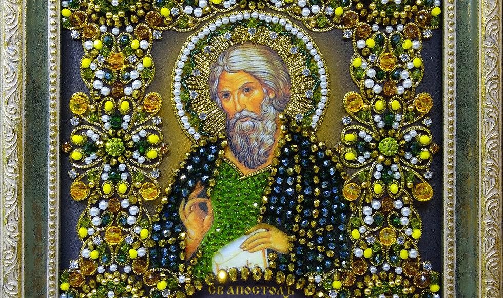 Набор для вышивания хрустальными камнями Святой Апостол Андрей Первозванный