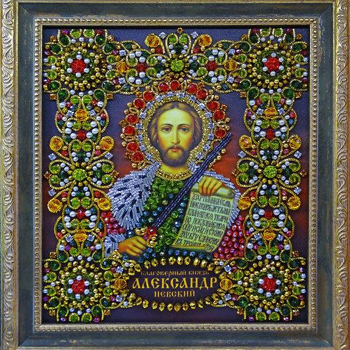 Набор для вышивания хрустальными камнями Благоверный князь Александр Невский