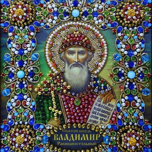 Ткань с нанесенной авторской схемой Святой князь Владимир Равноапостольный
