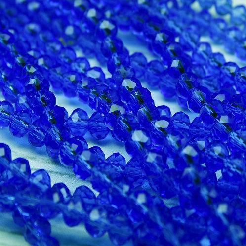 БП018НН34 Хрустальные бусины, цвет: светло-синий (без покрытия), размер: 3х4 мм.