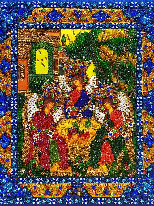 Набор для вышивания хрустальными камнями Святая Троица (ветхозаветная)