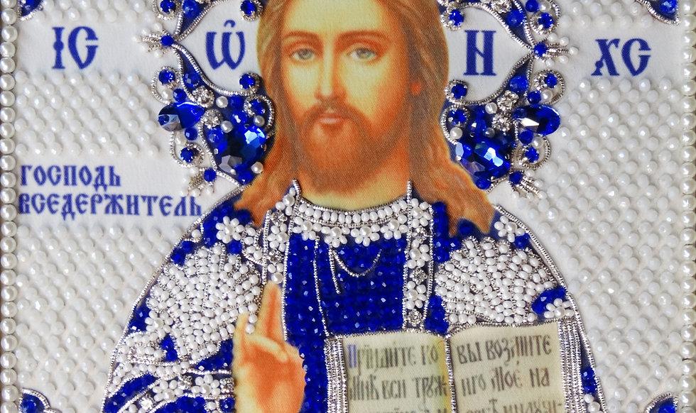 """Набор для вышивания хрустальными камнями Господь """"Вседержитель"""""""