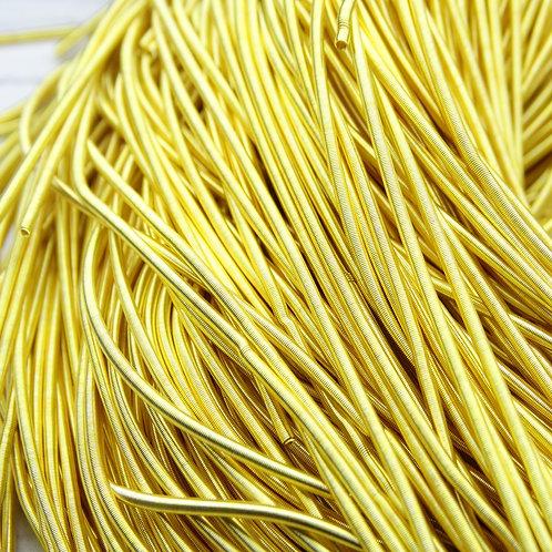 КМ001НН1 Канитель гладкая матовая, цвет: золото, размер: 1 мм, 5 грамм