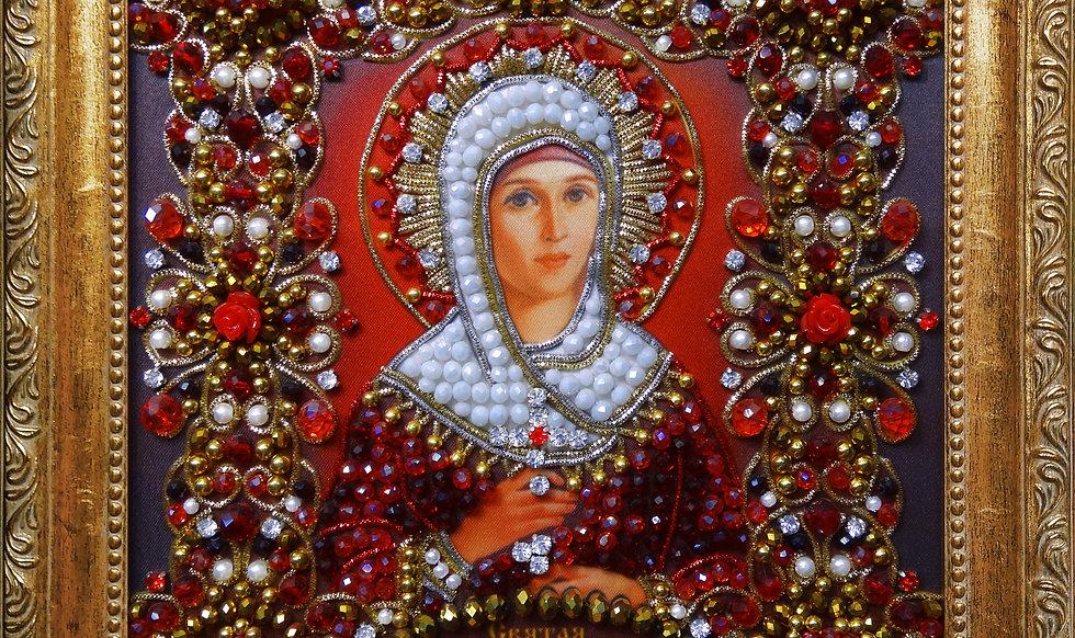 Набор для вышивания хрустальными камнями Святая Марина