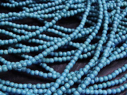 ПК001НН4 Бусины из природного камня бирюза, размер: 4 мм, количество 1 шт.