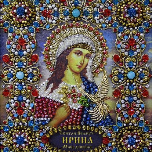 Ткань с нанесенной авторской схемой Святая Мученица Ирина Македонская