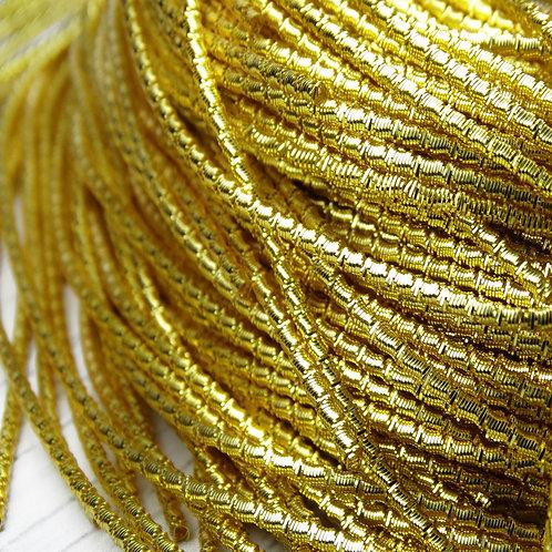 """ТБ003НН2 Трунцал фигурный """"бамбук"""", цвет: золото, размер: 2 мм, 5 грамм"""