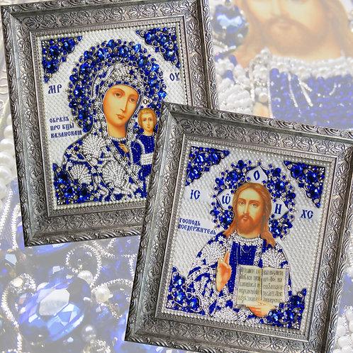 Венчальная пара (Богородица Казанская, Господь Вседержитель)