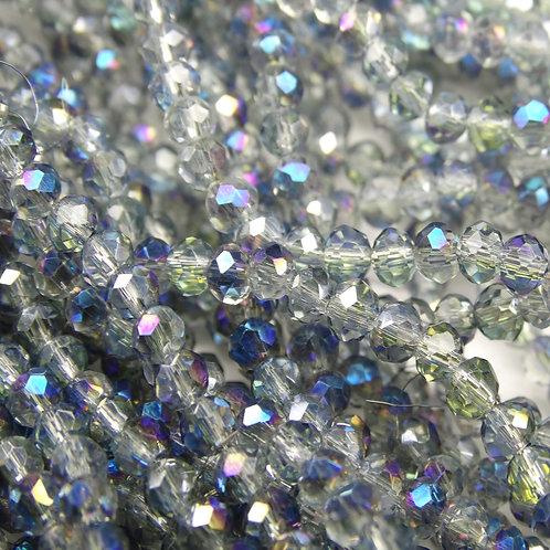 БП029ДН23 Хрустальные бусины, цвет: серый (с цв. покрытием), размер: 2х3 мм