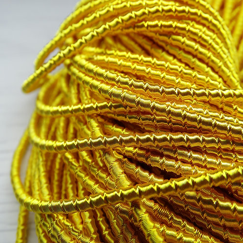 """ТБ006НН2 Трунцал фигурный """"бамбук"""", цвет: желтый, размер: 2 мм, 5 грамм"""