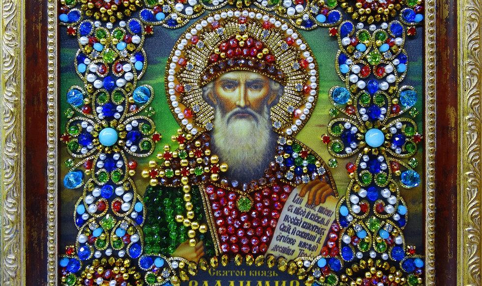 Набор для вышивания хрустальными камнями Святой князь Владимир Равноапостольный