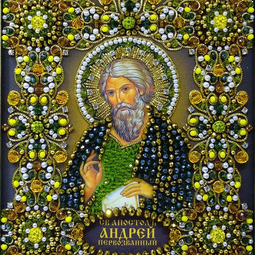 Ткань с нанесенной авторской схемой Святой Апостол Андрей Первозванный