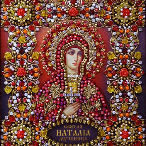 Ткань с нанесенной авторской схемой Святая Мученица Наталия Никомидийская