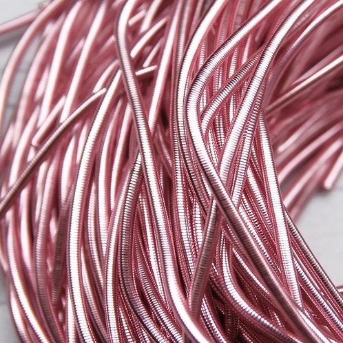 КА009НН1 Канитель гладкая, цвет: розовый, размер: 1 мм, 5 грамм