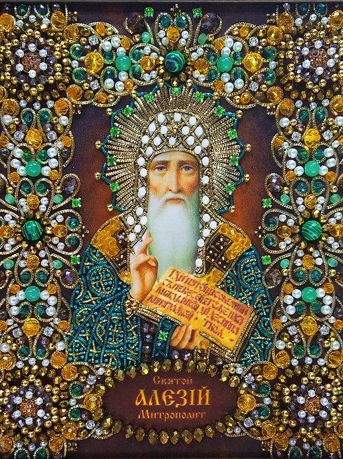 Набор для вышивания хрустальными камнями Святой Алексий Митрополит