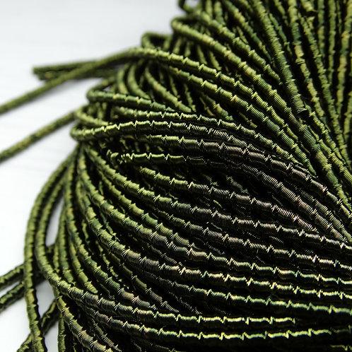 """ТБ014НН2 Трунцал фигурный """"бамбук"""", цвет: оливковый, размер: 2 мм, 5 грамм"""