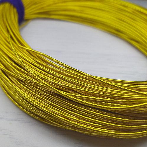 КЖ001НН12 Канитель жесткая, цвет: золото, размер: 1,2 мм, 5 грамм